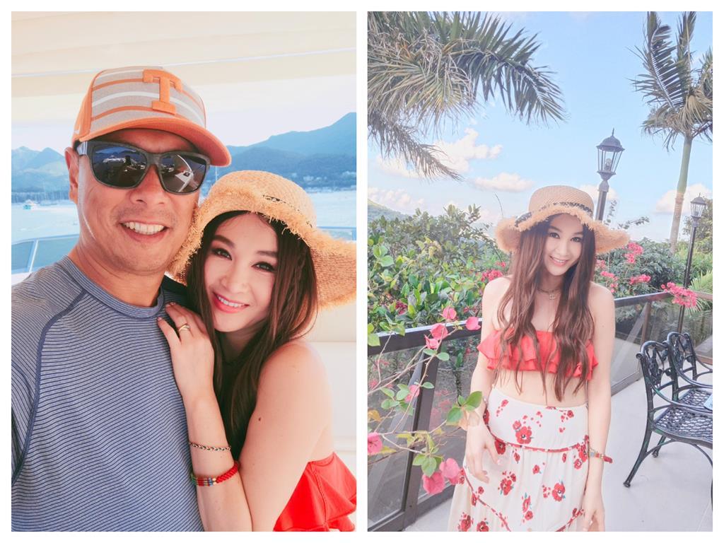 最美妲己!溫碧霞54歲「草莓系」少女模樣曝 和猛男富尪海灘甜蜜