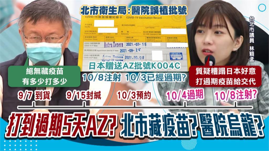 疫苗放到過期? 糟蹋日本好意? 北市府:批號登入錯誤