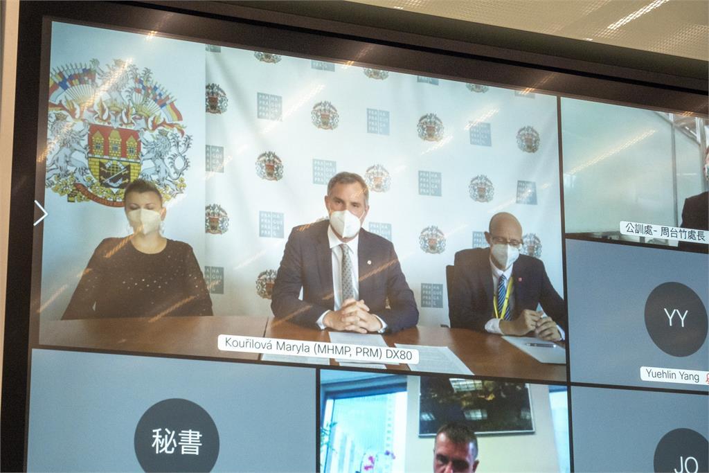 快新聞/柯文哲與布拉格市長視訊會議 尋求雙邊合作新契機