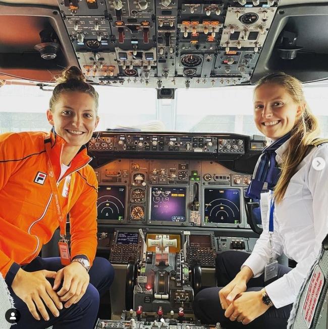 東奧/比完賽怎麼回國?荷蘭高球女將直接給「機長姐姐」載回家