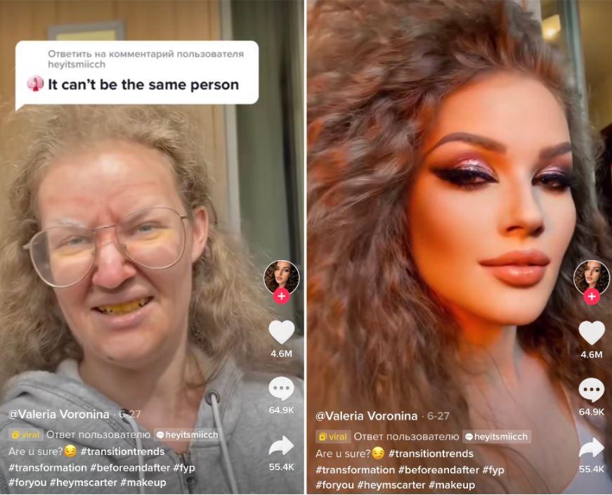 粉絲心碎控訴:這是詐騙 俄羅斯美艷網紅1秒卸妝秒變「黃口阿嬤」