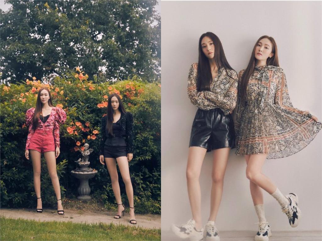 南韓最美姐妹花合體!跪坐鏡前變身「高貴芭比」:美的毫不費力