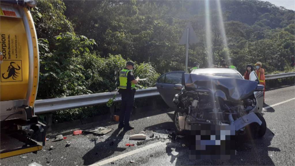 四車連環撞2人輕傷 國道三號關西路段回堵一小時