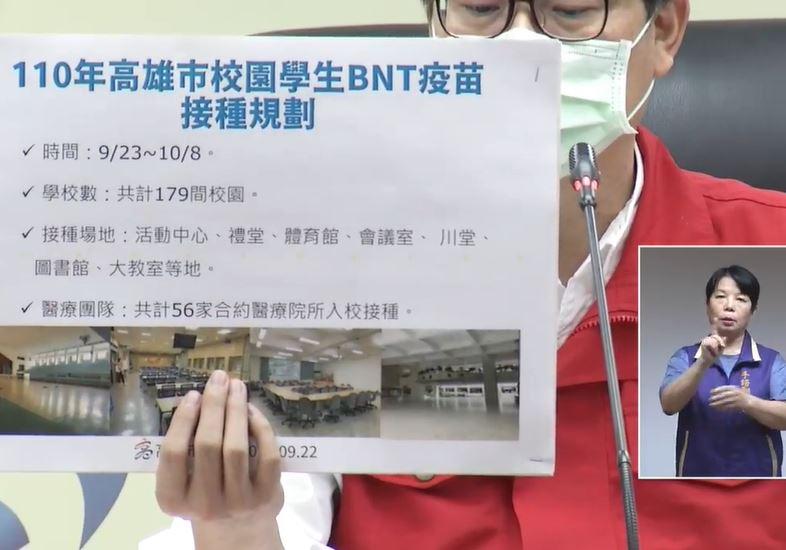 快新聞/高雄校園明開打BNT疫苗 陳時中公布「這2類」符合殘劑施打順序