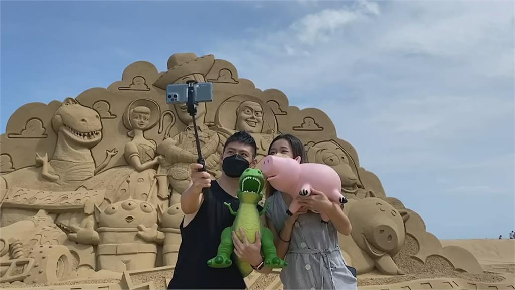 亞洲唯一! 皮克斯動畫在福隆沙雕季登場