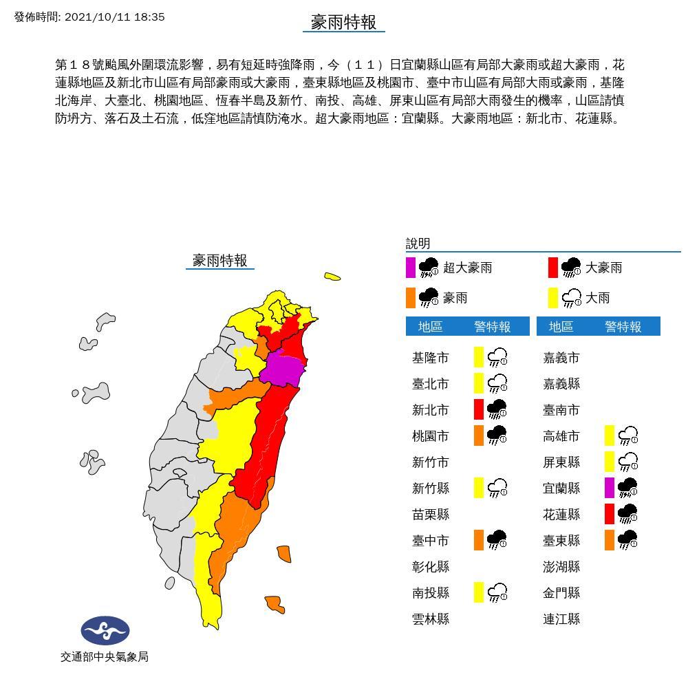 最快明日上午解除海警!圓規颱風挾超大雨彈夜晚炸「這1縣市」