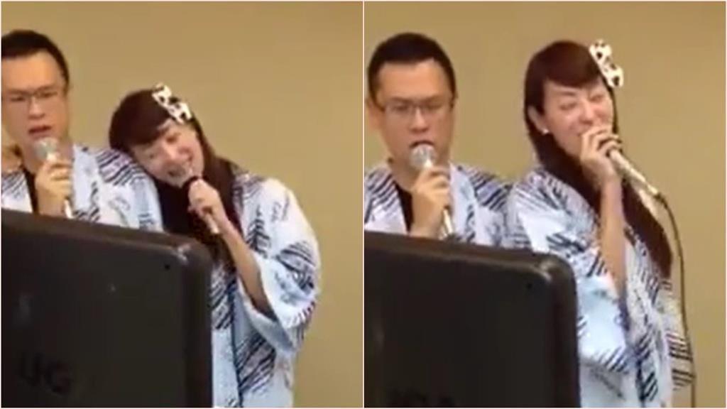 賈永婕開口唱歌老公一旁眼神冷漠畫面曝光 網友笑稱「可以殺死病毒」