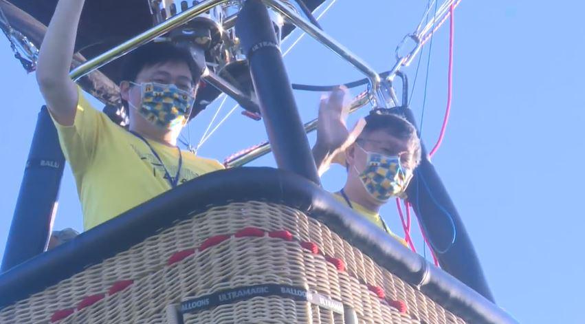 快新聞/台東熱氣球嘉年華「台北熊讚球首亮相」 柯文哲親自搭乘:好難控制方向