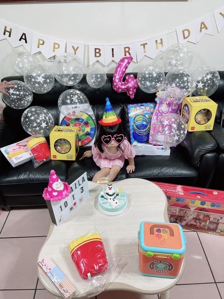 獨缺福原愛 江宏傑化身寵女魔人「夢幻氣球趴」替Aila醬慶4歲生日!