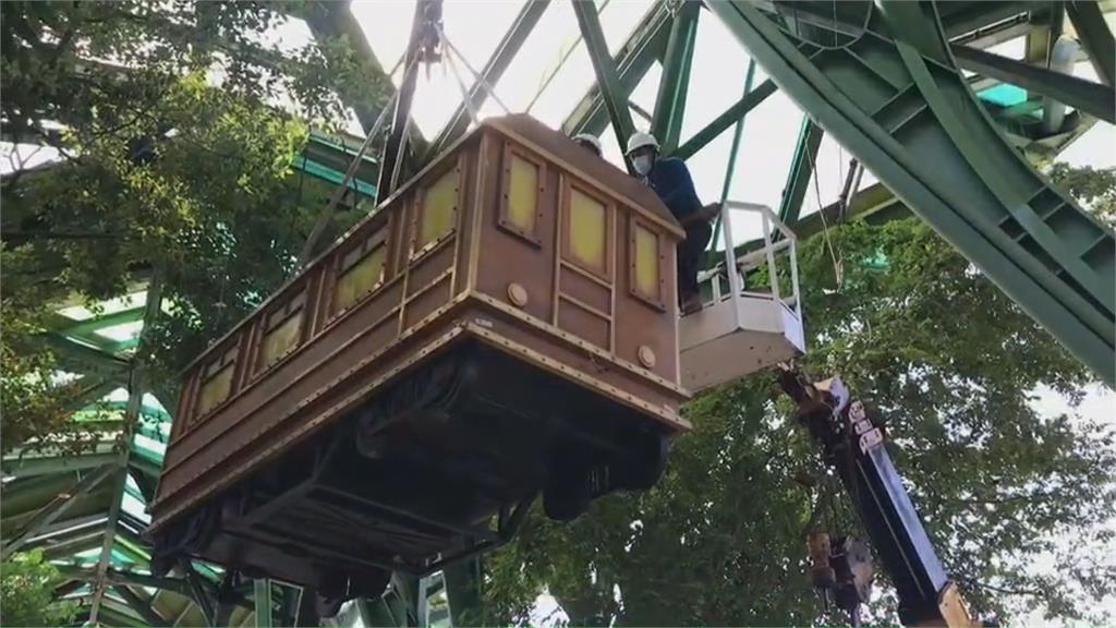 幾米飛天小火車因防颱迫降 週二迎出遊潮重新升空