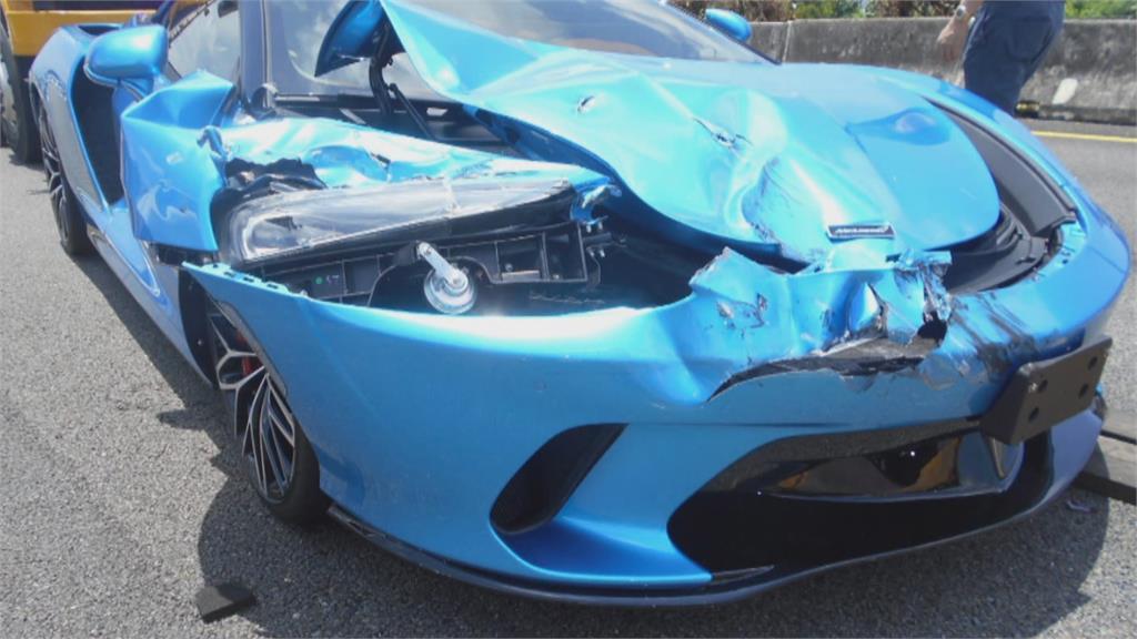 最貴車禍! 小貨車撞賓士又撞麥拉倫跑車 維修費300多萬